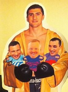 Марко Хук с братьями Кличко