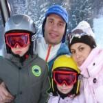 Виталий Кличко на отдыхе зимой