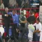 Драка фанатов на поединоке за чемпионский пояс IBF