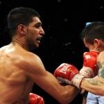 Схватка между боксером из Британии - Амиром Ханом и боксером из Америки - Дэнни Гарсией